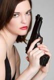 Reizvolles Gewehr-Mädchen Lizenzfreie Stockfotografie