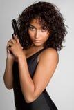 Reizvolles Gewehr-Mädchen Lizenzfreie Stockbilder