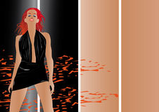 Reizvolles heißes Mädchen readhead Stockbilder