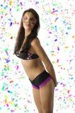Reizvolles Mädchen im Karneval Stockbilder
