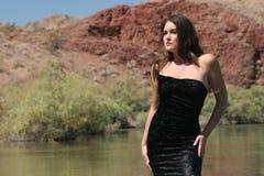 Reizvolles Mädchen im Kleid Lizenzfreies Stockbild