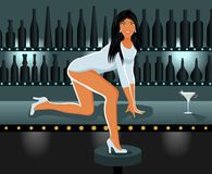 Reizvolles Mädchen im Nachtclub Lizenzfreie Stockfotografie