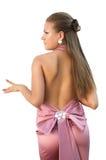 Reizvolles Mädchen im rosafarbenen Kleid Lizenzfreie Stockbilder