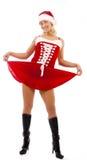 Reizvolles Mädchen im Sankt-Kleid Stockfoto