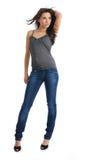 reizvolles Mädchen mit dem langen Haar Lizenzfreie Stockfotos