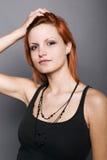 Reizvolles pinup Frauenportrait Lizenzfreie Stockbilder