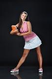 Reizvolles Schule-Mädchen Stockfoto