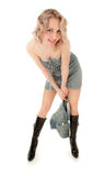 Reizvolles spielerisches blondes Mädchen Lizenzfreies Stockbild