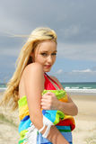 Reizvolles Strand Mädchen Stockfotografie