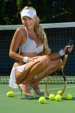 Reizvolles Tennismädchen Stockbild