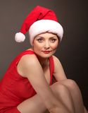 Reizvolles Weihnachtsmädchen lizenzfreies stockbild