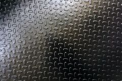 Reja de acero antideslizante en moho de la barra del almacén, imagen de archivo libre de regalías