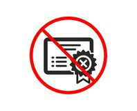 Reject certificate icon. Decline document sign. Vector royalty free illustration