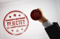Reject a document with a red stamp Royalty Free Stock Photography