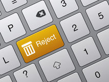 Reject enter button on laptop royalty free illustration