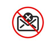 Reject mail icon. Delete message sign. Vector stock illustration