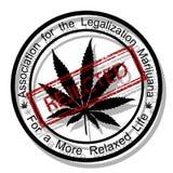 Reject marijuana Stock Photography