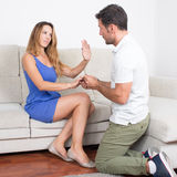 Reject marriage proposal Stock Photography