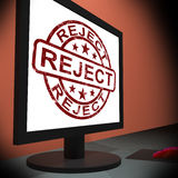 Reject On Monitor Shows Disallowed Stock Photography
