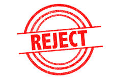 REJECT Rubber Stamp Stock Photo