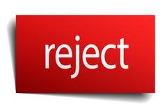 reject sign Vector Illustration