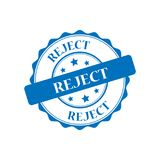 Reject stamp illustration Royalty Free Stock Images
