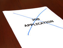 Rejected. Job application concept stock image