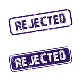 "Rejected. An ""Rejected rubber stamp with white background stock illustration"