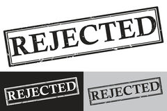 Rejected - black color grunge stamp Royalty Free Stock Image