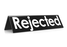 Rejected in black Royalty Free Stock Photo