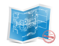 Rejected blueprint project Royalty Free Stock Images