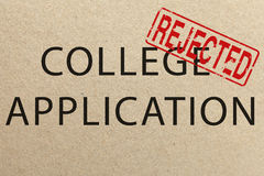 Rejected college application form Royalty Free Stock Image
