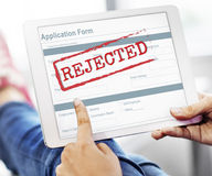 Rejected Declined Negative Document Form Concept Royalty Free Stock Photography