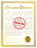 Rejected Divorce Decree papers. Stock Photo
