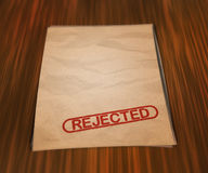 Rejected Document on the Table Royalty Free Stock Photos