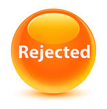 Rejected glassy orange round button Royalty Free Stock Image
