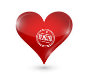 Rejected heart illustration design Royalty Free Stock Images