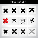 Rejected icon set. For design Stock Photo