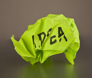 Rejected idea concept Stock Photo