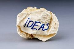 Rejected idea concept - paper Stock Images