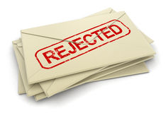 Rejected letters  (clipping path included) Royalty Free Stock Photography