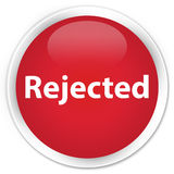 Rejected premium red round button Royalty Free Stock Image