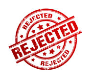 Rejected rubber stamp illustration Royalty Free Stock Photos