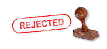 REJECTED Rubber Stamp Royalty Free Stock Images