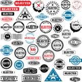 rejected ruber stamps Στοκ Φωτογραφίες