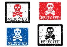 rejected skull stamp Στοκ φωτογραφία με δικαίωμα ελεύθερης χρήσης