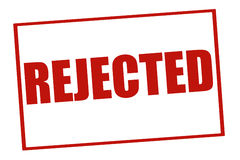 Rejected Stamp Royalty Free Stock Images