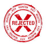 Rejected stamp Stock Images