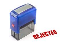 rejected stamp Στοκ Φωτογραφία