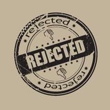Rejected stamp. Abstract grunge rubber stamp shape with the word rejected Stock Image